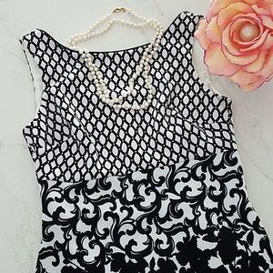 Stunning White House Black Market Sleeveless Dress